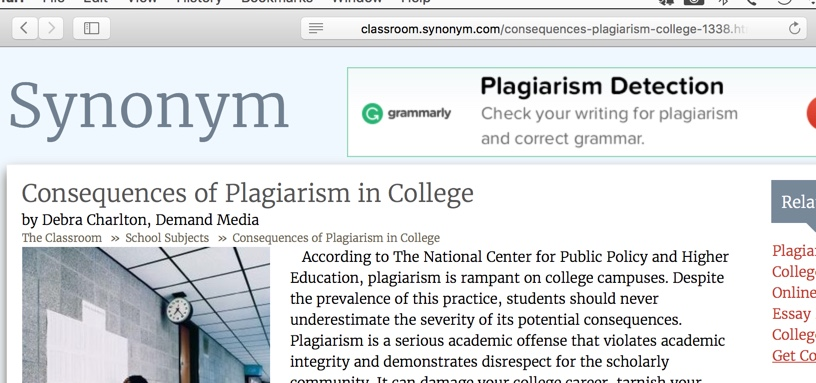 plagiarism in college consequences