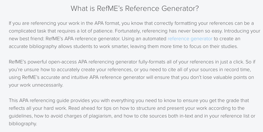 apa format reference list generator Apa references list in a references list citation reference list citations for ashford university assignments must be formatted according to the apa 6th.